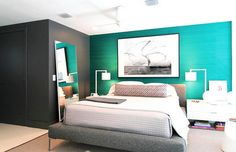 Image from http://dellacooks.com/wp-content/uploads/2014/06/Elegant-modern-bedroom-design-ideas-with-turquoise-blue-and-grey-accent-wall-and-modern-bedroom-furniture-1024x660.jpg.