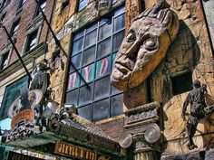 jekyll and hyde club in NYC Greenwich Village, Haunted Mansion, A Decade, Hyde, Walt Disney World, Places Ive Been, New York City, Lion Sculpture, Chicago