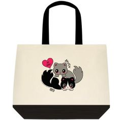 """""""Cat,"""" Two-Toned Tote Bag Color:  Natural Off-white/Black Color is as pictured here in this image. 100% Cotton (19"""" x 15"""" x 6"""") Find the Two-Toned Tote Bag @  angelwingz_star_designz. $42.99 no extra shipping applied. Ships in U.S.A except for HI & AK."""