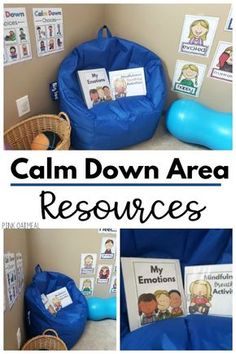 Calm Down Corner Resource Pack Calm down corner or calm down area resources. Everything that you need to set up a calming or brain break area in your classroom. Get calm down choices, exercise cards, yoga cards and beyond. Preschool Classroom Setup, Classroom Behavior, Autism Classroom, New Classroom, Special Education Classroom, Classroom Setting, Classroom Resources, Preschool Library Center, Book Corner Classroom