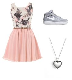 """""""#Running late """" by lexithewrestler on Polyvore featuring NIKE and Pandora"""