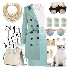 """""""Teal tales"""" by pensivepeacock ❤ liked on Polyvore featuring Le Specs, Miu Miu, WithChic, Lanvin, Kate Spade, Burberry and Givenchy"""