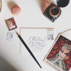 Instagram photo by @annariflebond (Anna Bond)   Statigram Anna Bond, Stationery, Lettering, Envelopes, Instagram, Art, Craft Art, Stationery Shop, Calligraphy