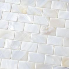Merola Tile Conchella Subway White in. x 3 mm Natural Seashell Mosaic Wall Tile-GDXCSWW at The Home Depot Backsplash Option White Mosaic Tiles, Mosaic Wall Tiles, Gray Tiles, Mosaic Backsplash, Mosaics, Tabletop, Up House, River House, House Bath