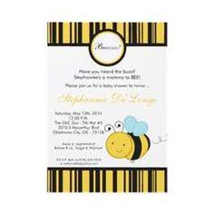 ... SHOWER INVITE :: Spring Honey Bumble Bee.5x7 Baby Shower Invitation