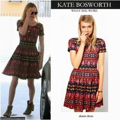 #ASOS Skater Dress In Habanera Print as worn by #katebosworth was $53.35 but NOW $23.82