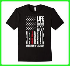 Mens 37th Birthday Gift Tee Born in 1980 Patriotic Shirt Legends Large Black - Birthday shirts (*Amazon Partner-Link)