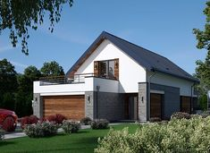 Fiodor G2 - zdjęcie 2 Good House, Terrazzo, Home Fashion, Bungalow, Craftsman, House Plans, Shed, Farmhouse, Outdoor Structures