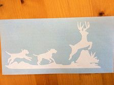 Decal made of high-quality, waterproof, self-adhesive vinyl Comes ready to apply Decal is for outdoor use on cars, trucks, dog boxes or any other smooth surface