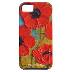 Red #Poppies iPhone 5 Case.  $53.95