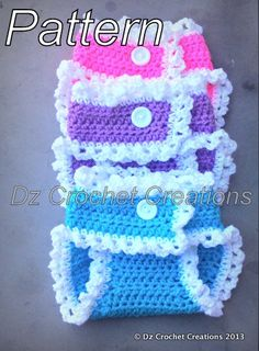 Crochet Diaper Cover Pattern PDF by HandMadeByDz on Etsy, $5.00