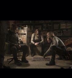 Peeta, Katniss and Cressida Mockingjay part 2
