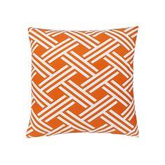 Edie, Inc. Isham Fresco Outdoor Throw Pillow, Orange