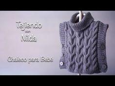 🧶 Tejidos para bebé (chaleco) / How to knit a baby vest DIY Crochet Baby, Knit Crochet, Baby Vest, Baby Kids, Kids Fashion, Knitting, Sweaters, Youtube, Knits