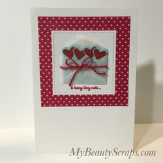 Card #3 - BeautyScraps Stampin' Up! Sealed With Love Valentine's Day Card Class January 2017