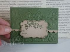 Gift Card Holder - Vintage Wallpaper embossing folder and assorted punches.