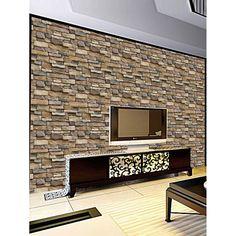 koyle- bakstenen muur achtergrond behang voor de woonkamer 3d stone ...