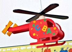 Helikopter Flugzeug Lampe Leuchte Kinderlampe Kinderzimmerlampe Deckenleuchte Hängelampe: Amazon.de: Beleuchtung