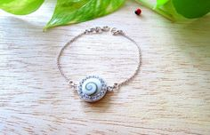 BS26 925 Sterling Silver White Shiva Shell by MrsShellsandSilver, $15.00