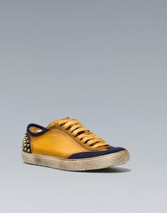 SNEAKERS WITH STUD DETAIL - Man - New this week - ZARA United States