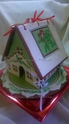 """Пряничный домик с колокольчиками. Gingerbread house """"Christmas bell"""" mak11.livemaster.ru"""