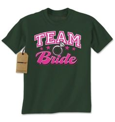 Mens Team Bride T-Shirt X-Large Forest Green, Men's