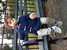Baby Boden coat, MUJI pants, Vans