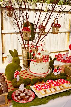 Woodland themed, fawn and red riding hood inspired birthday party with printables, DIY decorations, food and favor ideas! | BirdsParty.com @birdsparty