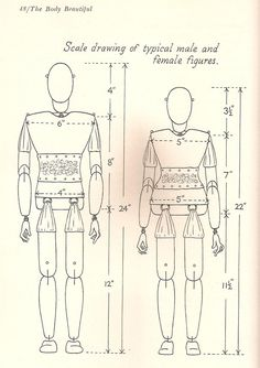 Marionette construction:  diagram of the body.