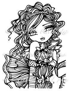 hannah lynn coloring pages - Bing images Blank Coloring Pages, Adult Coloring Book Pages, Printable Adult Coloring Pages, Coloring Books, Fairy Drawings, Cartoon Drawings, Hannah Lynn, Creation Art, Fairy Coloring