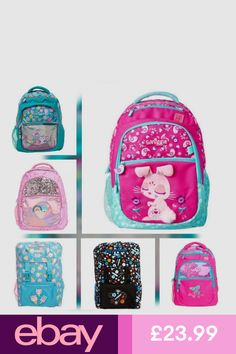 Personalised Glitzy Name Toddler Kids Childs Back Pack Boys Back To School Bag