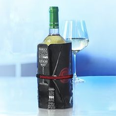 Our adjustable Wine cooling Sleeve fits all standard wine bottles. Superior performance, high-quality gel cools down by 10°F to 14°F within 10 minutes. Unfolds for easy storage in freezer.  Contact Clement & Associates clementsales@shaw.ca