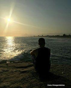 Pôr do sol maravilhoso em Saquarema - Rio de Janeiro. Foto e curtição @buarque94 Envie seu pôr do sol inesquecível também, use #megaroteiros