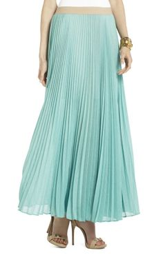 Estel Sunburst Pleated Maxi Skirt