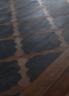 Hand crafted parquet #pattern #wooden #floor #home #interior