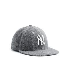 742f3027a5301 Exclusive New Era NY Yankees Hat In Abraham Moon Herringbone Lambswool