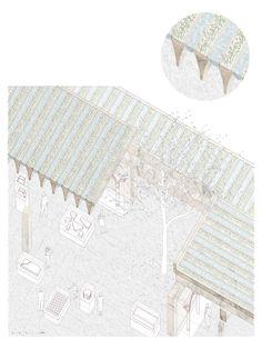 BONELL+DORIGA . Europan 13 . I Am a Treasure . Warsaw (9) Hotel Design Architecture, Architecture Student, Architecture Details, Architecture Drawings, Landscape Diagram, Axonometric Drawing, Concept Draw, Collage Drawing, Architectural Section