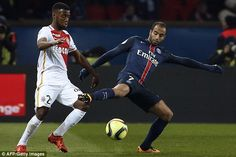 Lucas Moura (right) has said that he would rather play alongside Neymar than Lionel Messi at PSG