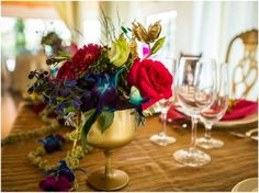 Modern Indian Styled Wedding © Todd White Photography for Bliss Bridal Magazine | Austin, Texas Wedding Magazine Gold details with vibrant color accents. Zuzu's Petals, Illusions Rentals, Design by Cari Wible