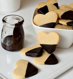 Recipe for Shortbread and Chocolate Hearts