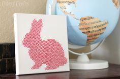 cross-stitch bunny canvas