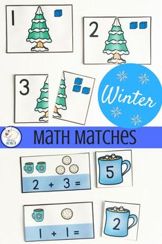 Winter math cards for practicing number sense. Numbers 1-20: base ten, tally marks, number words, sets and more!