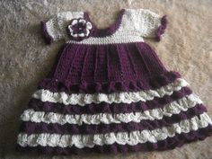 Girl's Dress in Burgundy and Cream, Size 3-4 by Penny Ridgeway /// 3rdRevolution