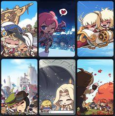 A Collection of Official MapleStory Artwork Manga Drawing, Manga Art, Maplestory 2, Sword Art Online, Wonders Of The World, Manhwa, Chibi, Geek Stuff, Fantasy