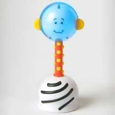 Stimulate a baby's senses with this light-up rattle toy.