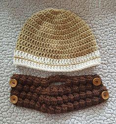 Bearded Hat (pattern is for the hat with beard link) - free crochet pattern by Brooke Rabideau.