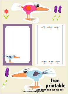 free digital funny bird scrapbooking embellishment and printable DIY stickers – lustiger Vogel Clipart – freebie | MeinLilaPark – digital freebies
