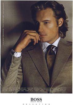 Gabriel Aubry Male Model Names, Male Models, Dapper Gentleman, Gentleman Style, Sharp Dressed Man, Well Dressed Men, Gabriel Aubry, Hugo Boss Suit, French Man