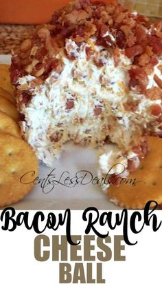 Bacon Ranch Cheese Ball Recipe. This Bacon Ranch Cheese Ball is a perfect appetizer for any get together! It's especially a crowd pleaser at holiday parties
