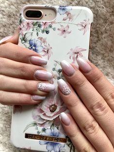 #nails#glitter#french#babyboomer#coffin ❤️